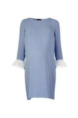 Lavinia Dress - Blue - Maternity Outlet - Madderson London