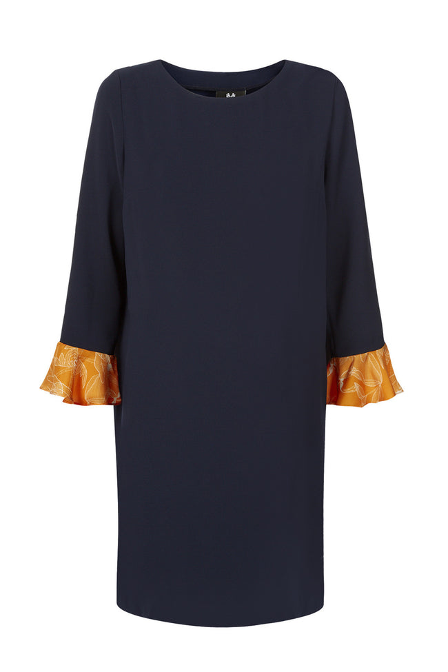 @ Lavinia Dress - Navy/Orange Size S - Maternity Sample Sale - Madderson London