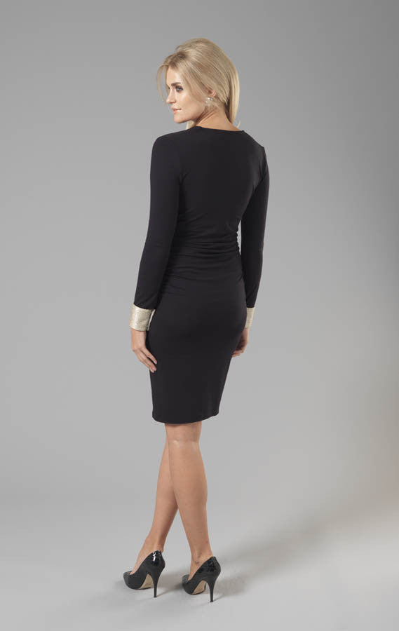 Olivia Dress - Black - Maternity - Madderson London