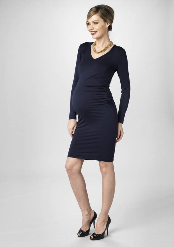 fa0a99636fa67 Olivia Dress - Navy - Maternity - Madderson London