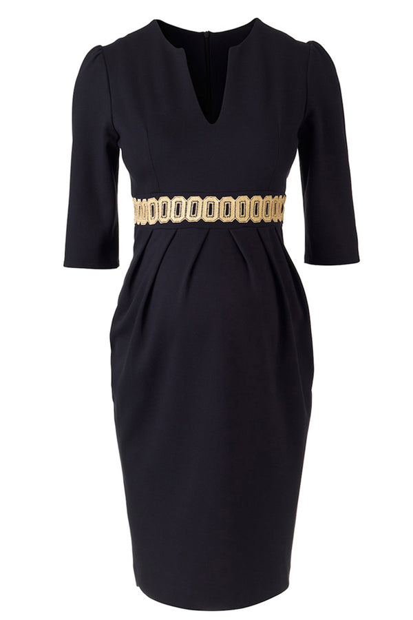 24719415223 Nadine Dress - Navy - Maternity - Madderson London