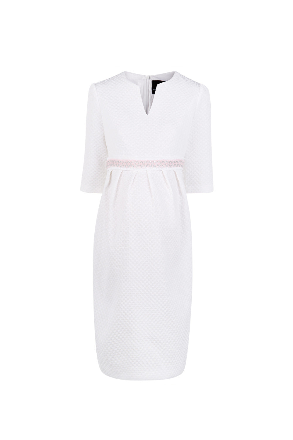 Nadine Dress - White/Pink - Maternity Outlet - Madderson London
