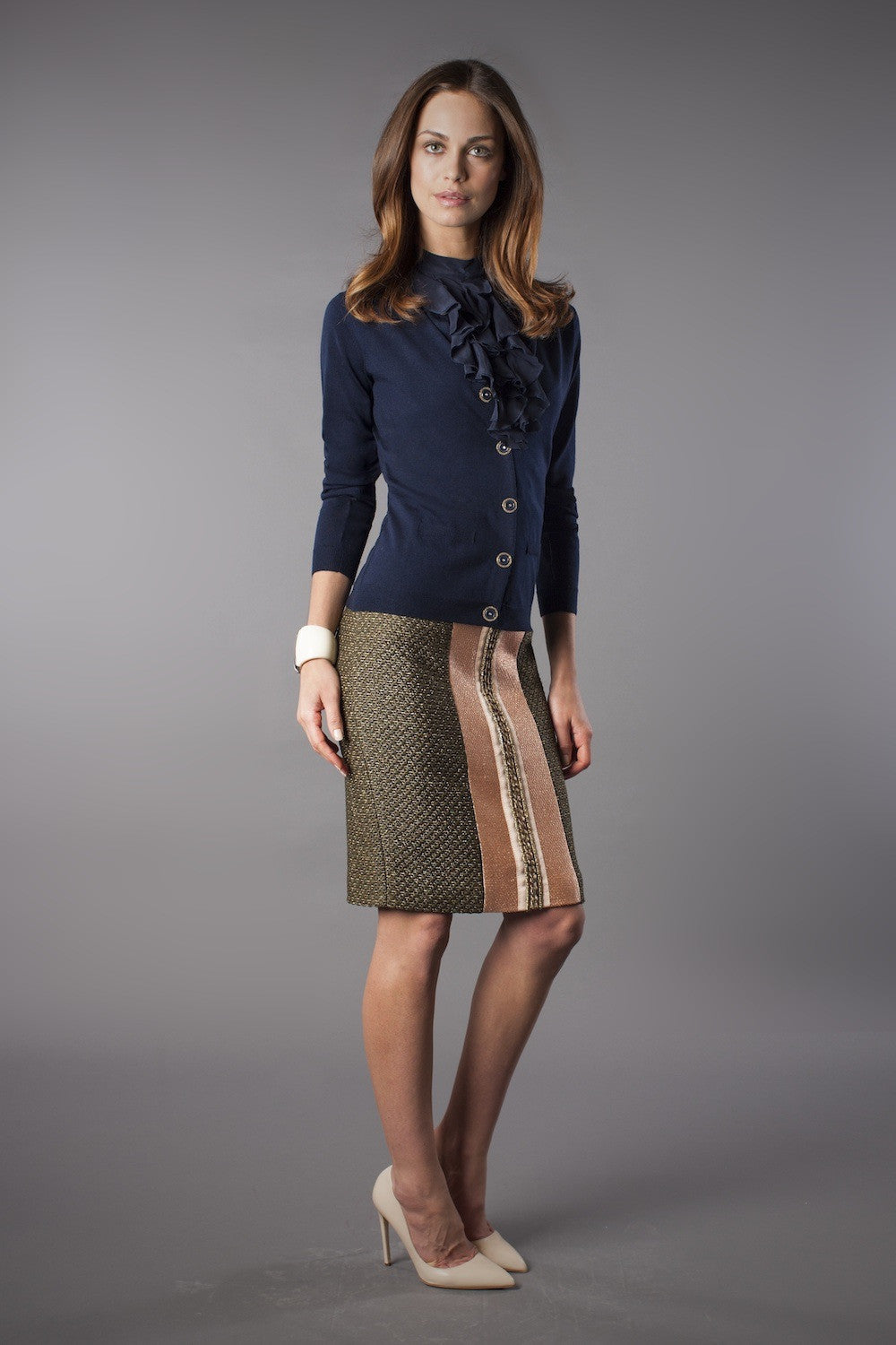 Celine Skirt - Olive - Womenswear Outlet - Madderson London