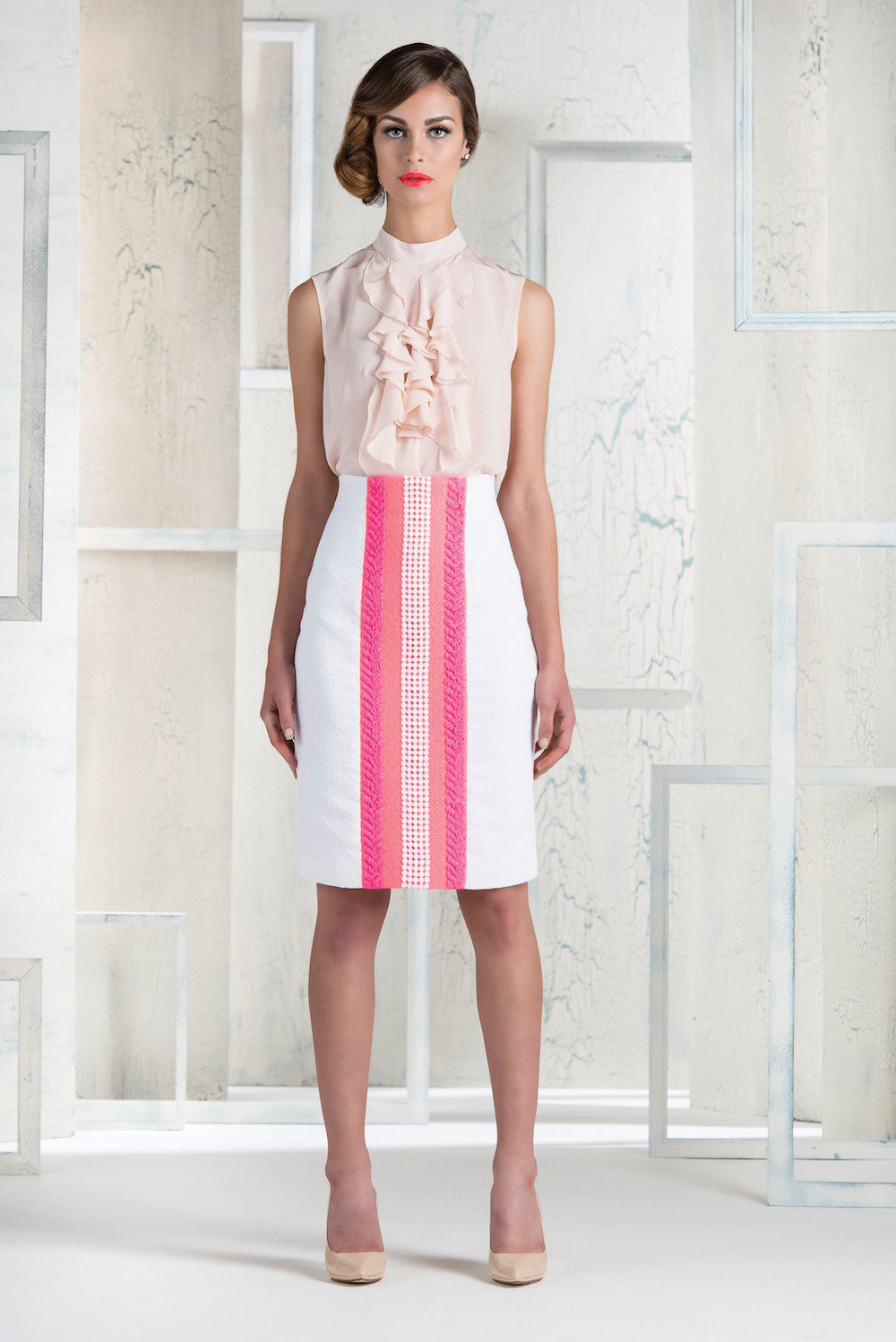 Celine Skirt - Pink - Womenswear Outlet - Madderson London