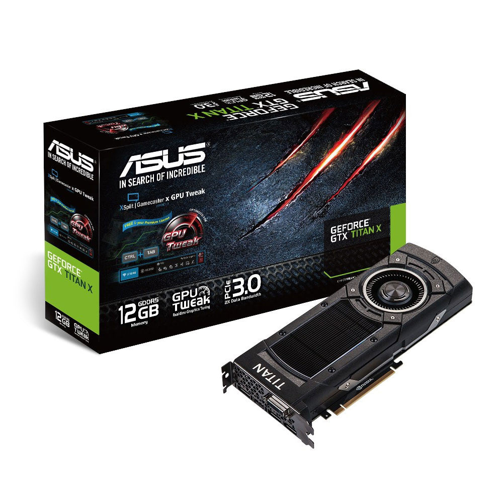 ASUS NVIDIA GeForce GTX Titan X Maxwell Graphics Card Retail Boxed