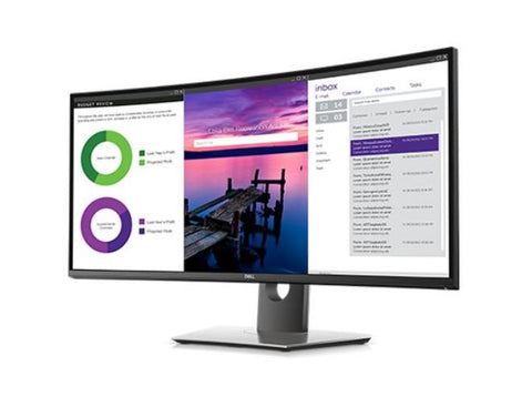 Dell U3419W Ultrawide Curved Ultrasharp UWQHD USB-C 34 Inch Monitor Main Image Seller Refurbished