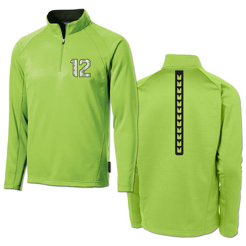 Polyester lightweight pullover - green