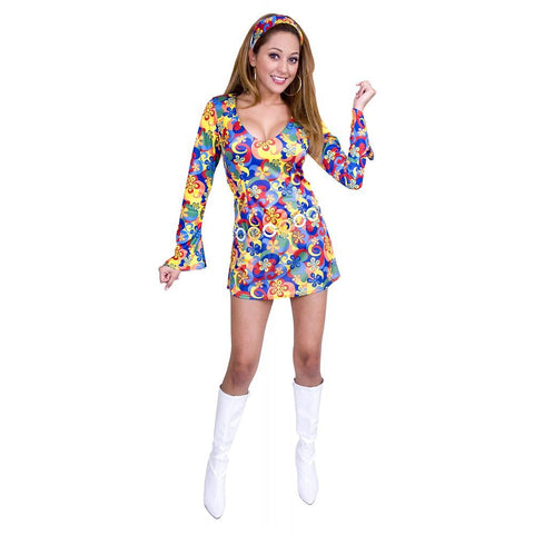 60's Flower Power - Women's Sexy Costume (2 Pc.)