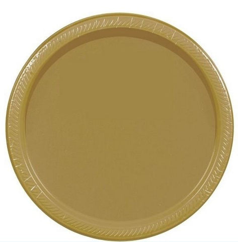 "Gold 10"" Paper Plate 20ct"