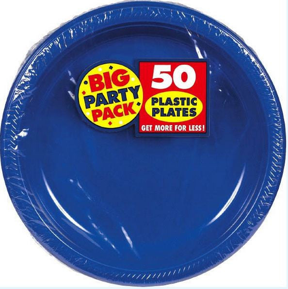 Bright Royal Blue 10\  Plastic Plate 50ct  sc 1 st  Card \u0026 Party Giant & Bright Royal Blue 10\