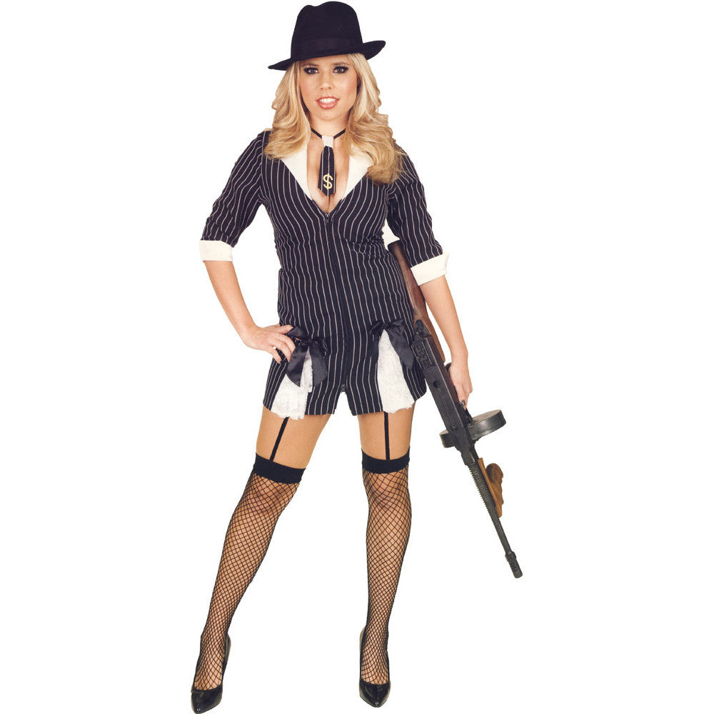 Gangster Moll Double Zip Womenu0027s Sexy Adult Costume  sc 1 st  Card u0026 Party Giant & Gangster Moll Double Zip Womenu0027s Sexy Adult Costume u2013 Card u0026 Party Giant