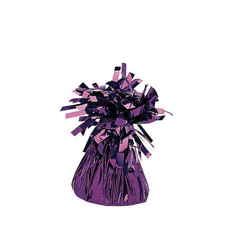Purple Small Foil Balloon Weight