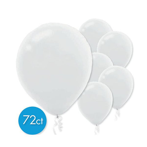 Balloons 72ct Plain White