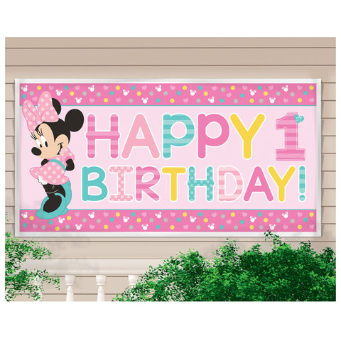 ©Disney Minnie's Fun To Be One Horizontal Giant Sign Banner