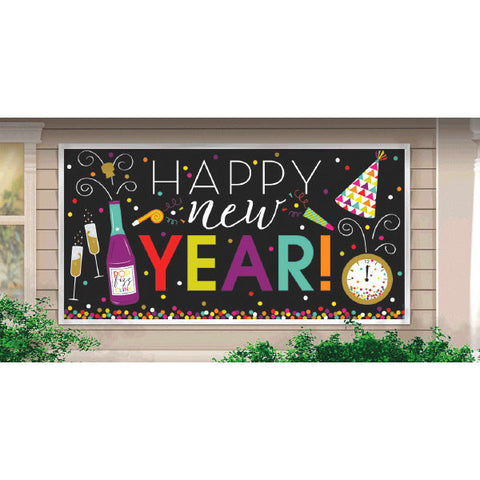 New Year's Large Horizontal Banner - Jewel Tone