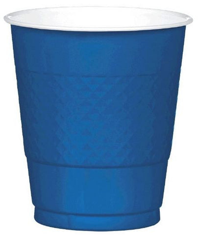 Navy 12oz Plastic Cup 20ct
