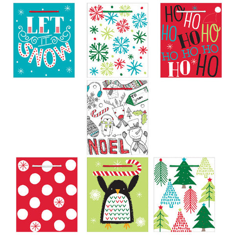 Christmas Fun Small Vertical Bag - Multi Pack
