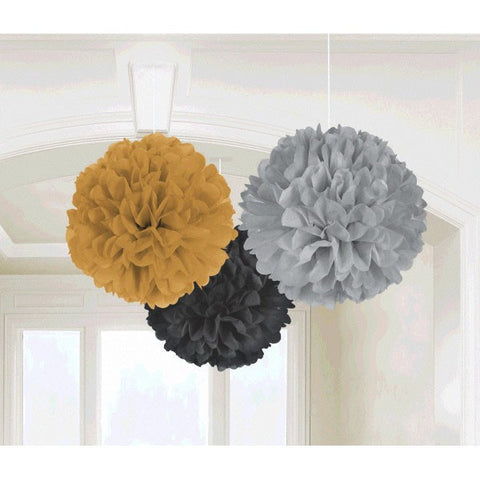 "16"" Assorted Hollywood Fluffy Hanging Decorations(3 Ct)"