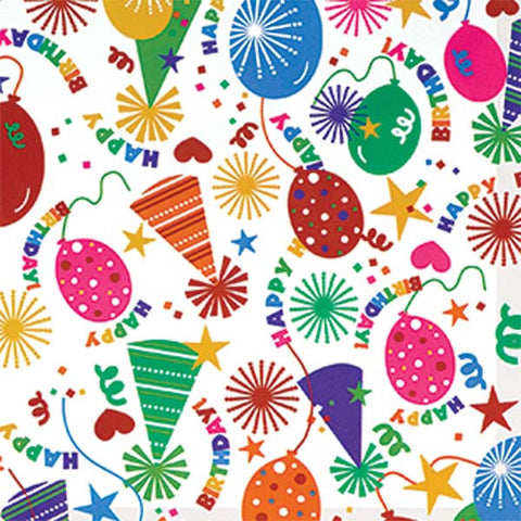Printed Jumbo Birthday Party Hat Gift Wrap