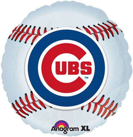 "18"" Chicago Cubs  2-Sided Balloon Foil Mylar Balloon"
