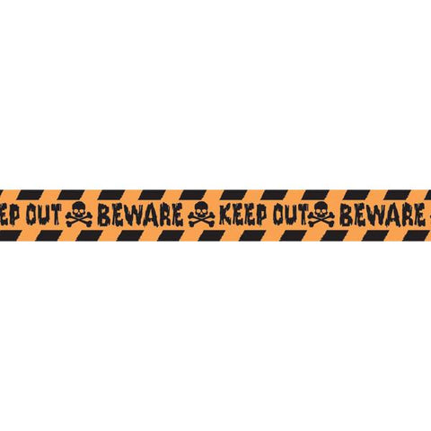 Halloween Orange-And-Black Decorative Caution Tape (100 Ft.)