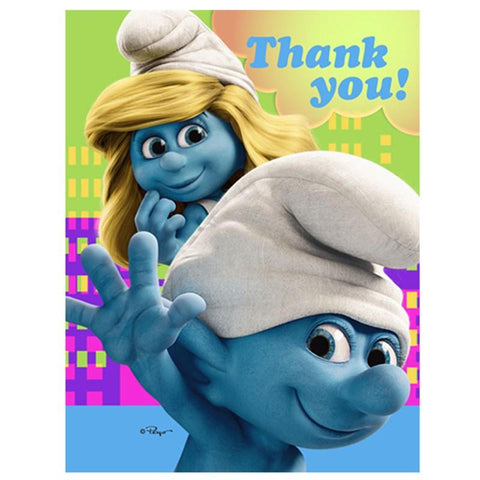 The Smurfs Thank You Postcards (8 Ct.)