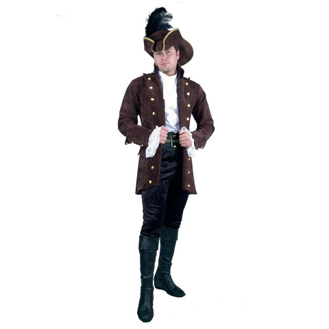 Pirate Of The Caribbean Adult Brown Jacket - Large