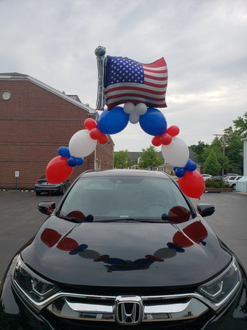 American flag  Car Link Arch Balloon for Drive By.