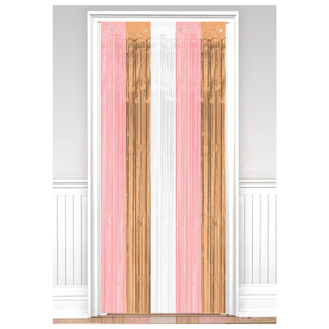 Door Curtain - Rose Gold/Blush
