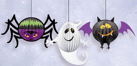 Gruesome Group Hanging 3D Honeycomb Holloween Decorations (3 Ct.)