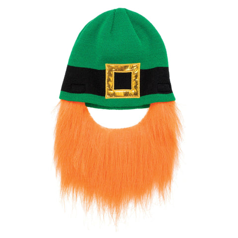 St. Patrick's Day Leprechaun Beard Beanie, Adult Size