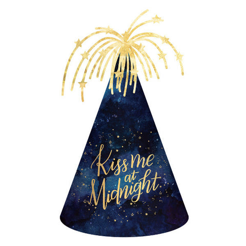 Kiss Me At Midnight Cone Hat - New Years