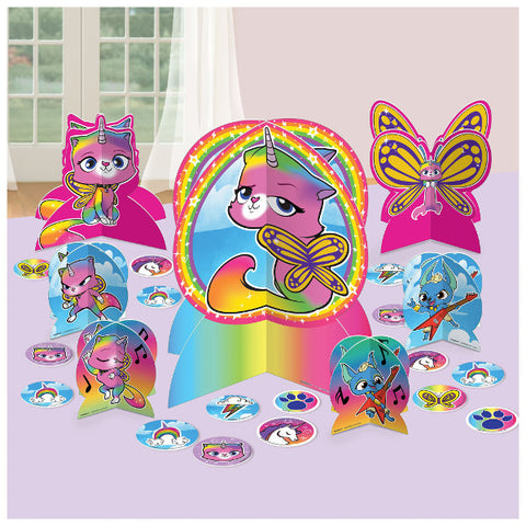 Rainbow Butterfly Unicorn Kitty™ Table Centerpiece Kit