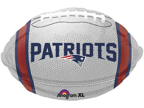 "New England Patriots 18"" Football-Shaped Foil Balloon"