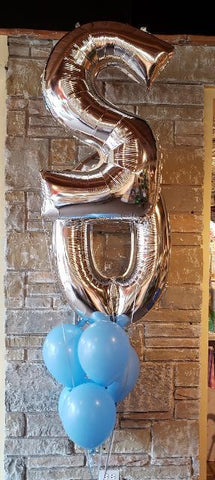 Double Numeral and Latex Balloon Bouquet