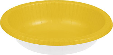 Schoolbus Yellow 20oz Bowls 20ct Paper Hot/Cold