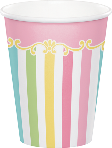 Carousel Hot/Cold Cups Baby Shower Girl's Birthday 9oz