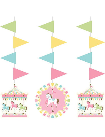 Carousel Hanging Cutout Decorations (3 ct)