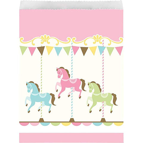 Carousel Paper Treat Bag (10)  Baby Shower Girl's Birthday