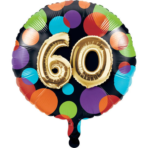 "Balloon 60th Birthday Metallic Balloon (18"")"
