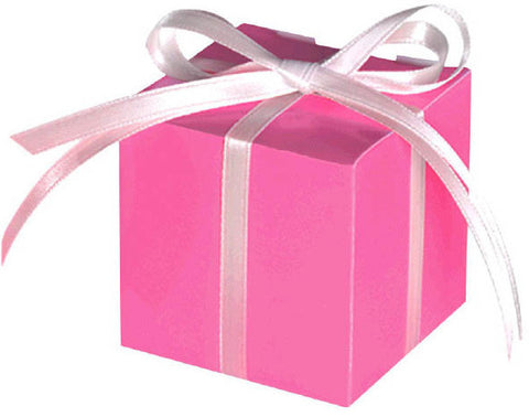Small Paper Favor Boxes, Bright Pink (100 Ct.)