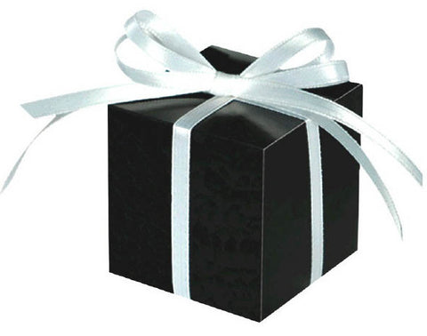 Small Paper Favor Boxes, Black (100 Ct.)
