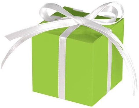 Small Paper Favor Boxes, Green (100 Ct.)