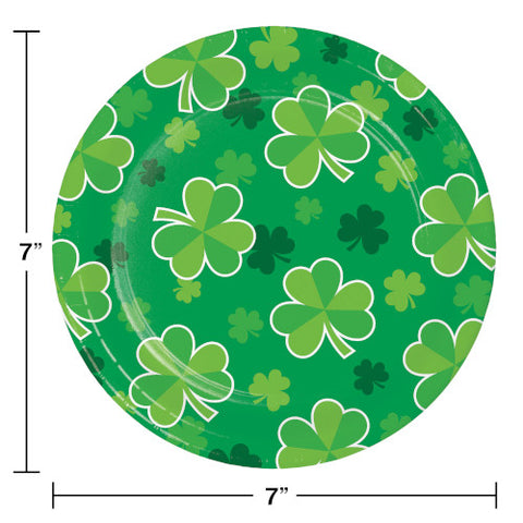 "St. Patrick's Day Irish Clover 7"" Plate  8 ct"