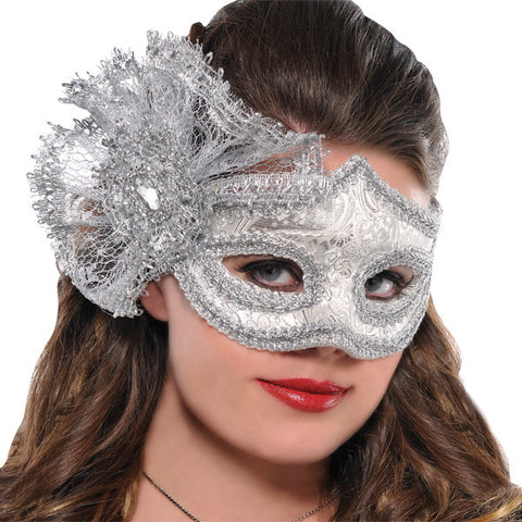 WOMAN'S PLATINUM PARISIAN SILVER MASK