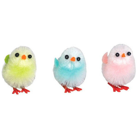 Multicolor Chenille Chicks, Medium
