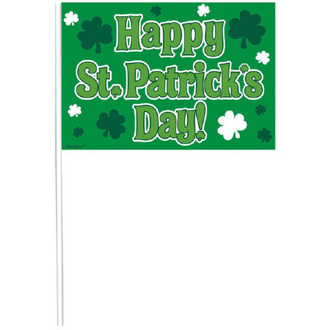 St. Patrick's Day Miniature Plastic Flags (12 Ct.)
