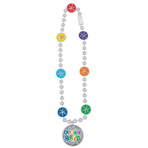 "Officially Retired Plastic Bead 15"" Party Necklace"