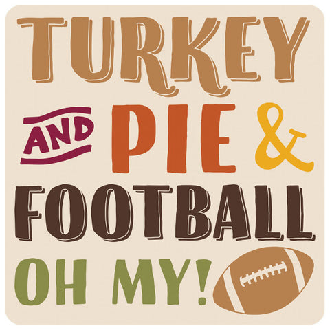 Turkey, Pie, Football Printed Coasters