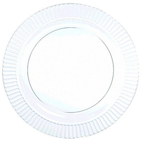 Clear Premium Plastic Lunch Plates 32ct